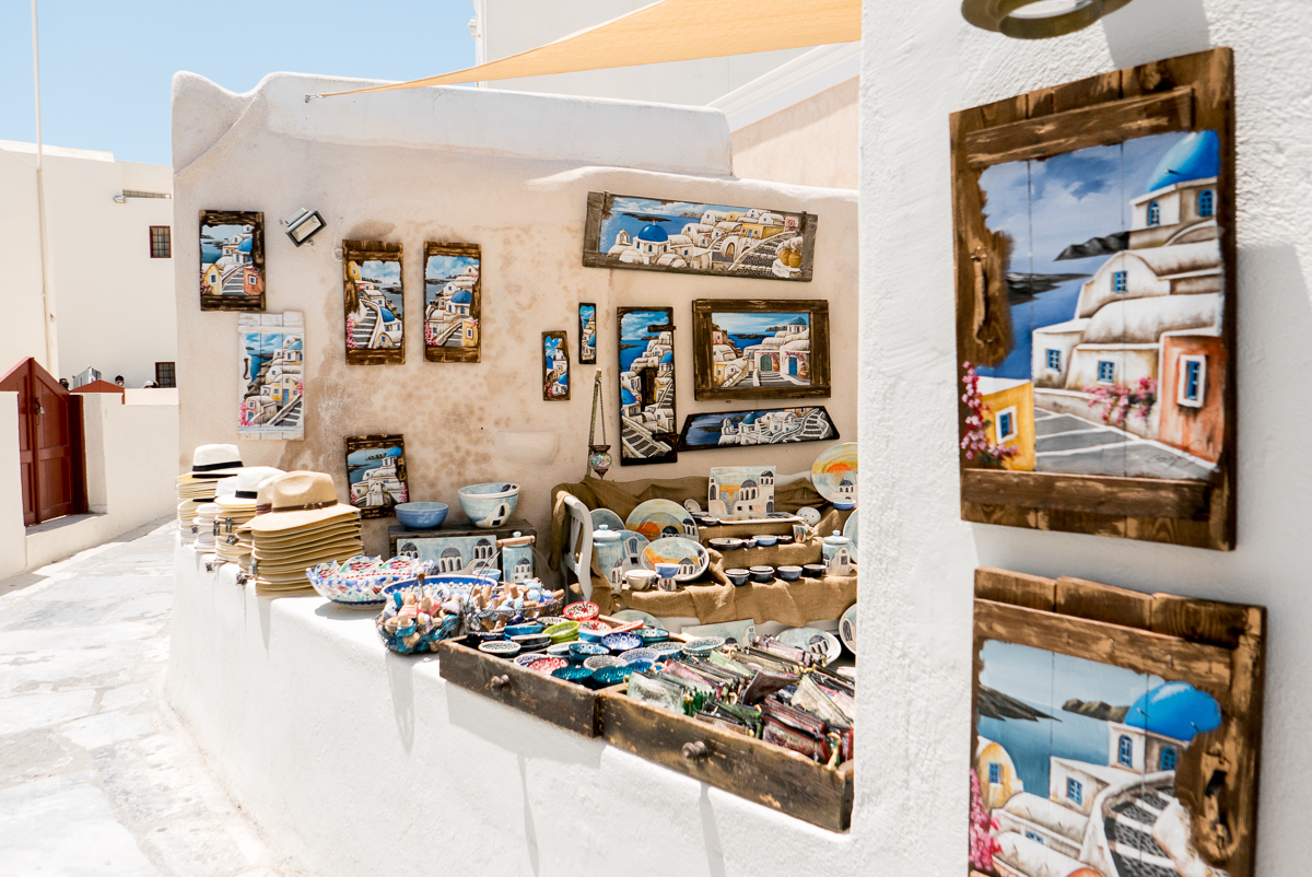 Shopping in Santorini