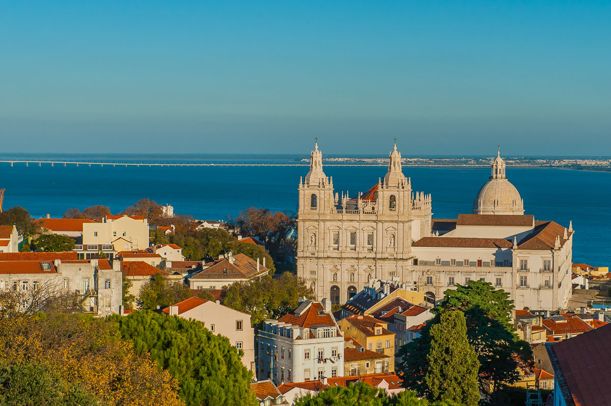 Beautiful Lisbon city view Tagus river