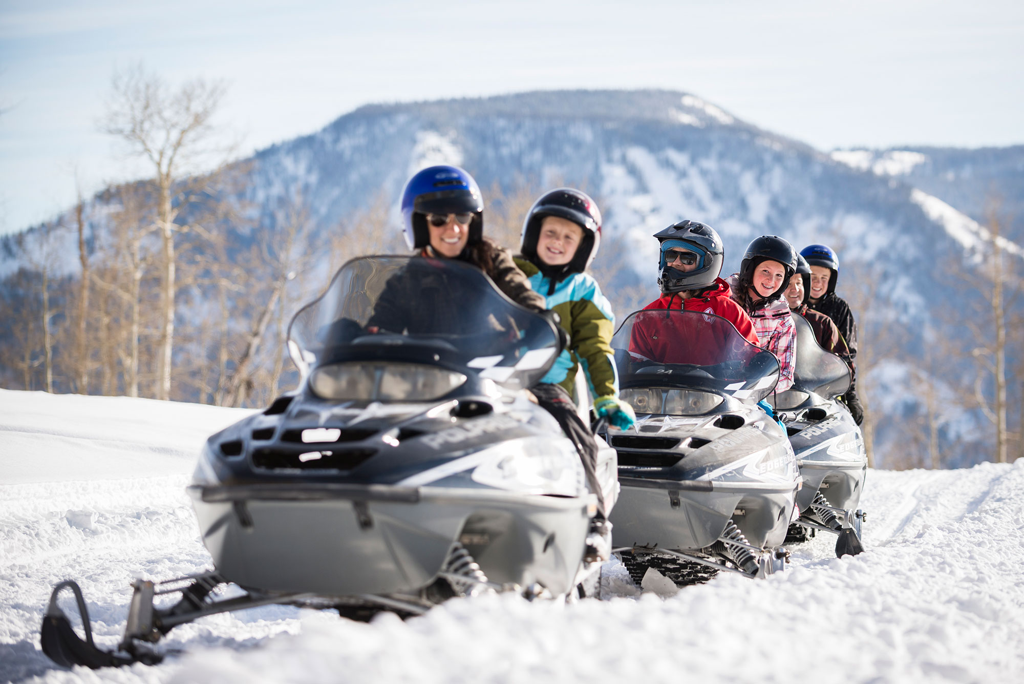 Park City snowmobilling