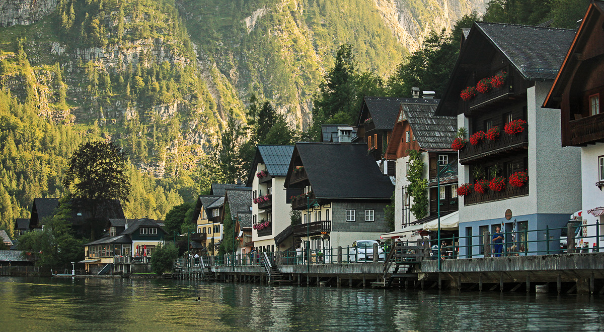 Lovely village of Hallstatt in Austria