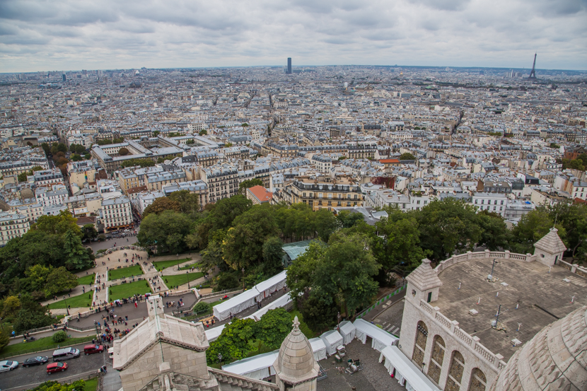 The Basilica of the Sacred Heart view, Paris panoramic view