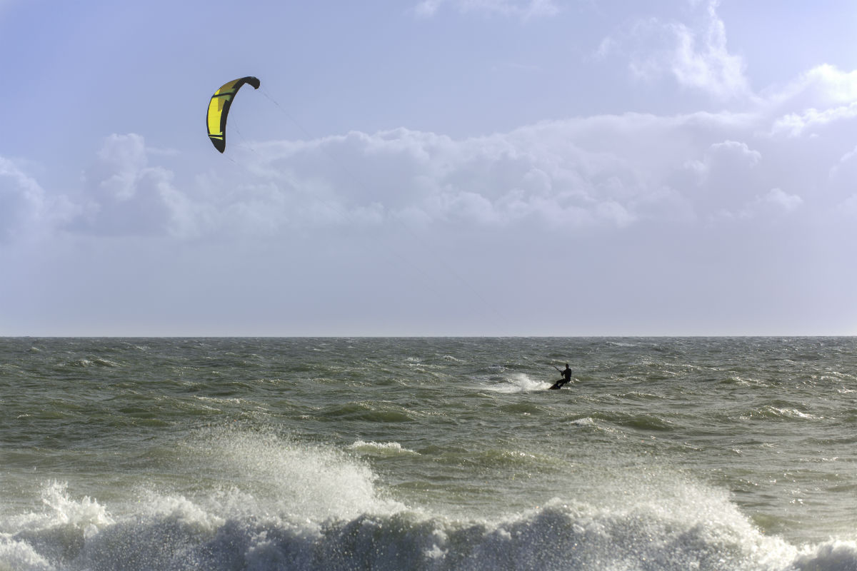 Kiting in Hayling Island