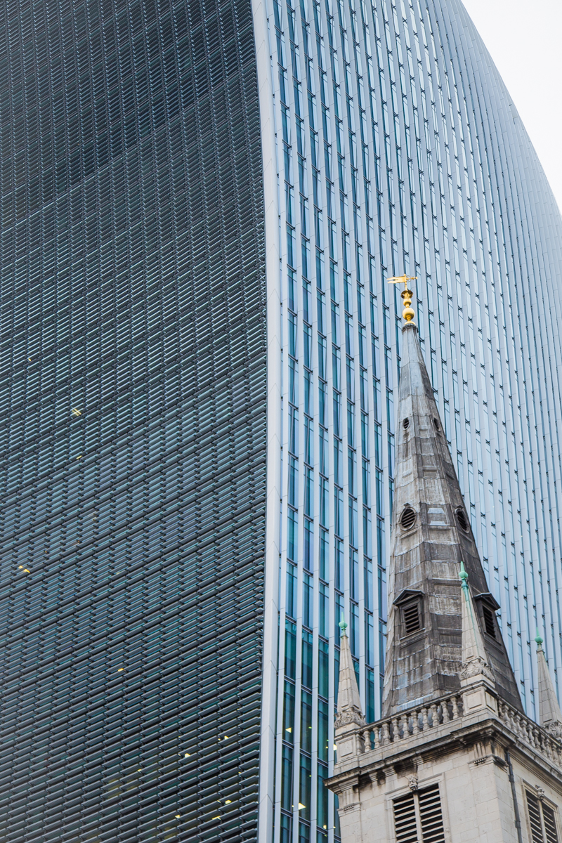 Amazing skycraper in London Walkie Talkie