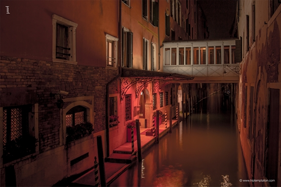 Venice night Canal view Wallpaper