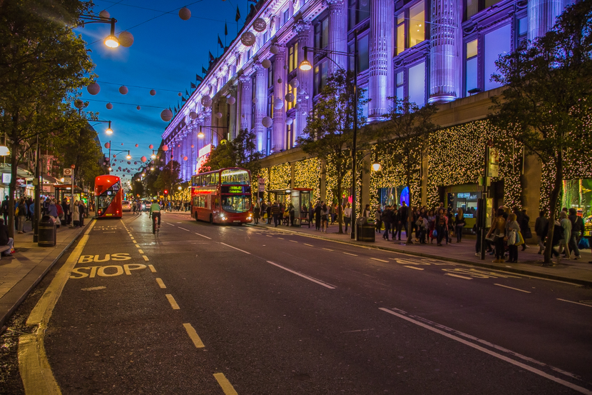 Busy streets of London