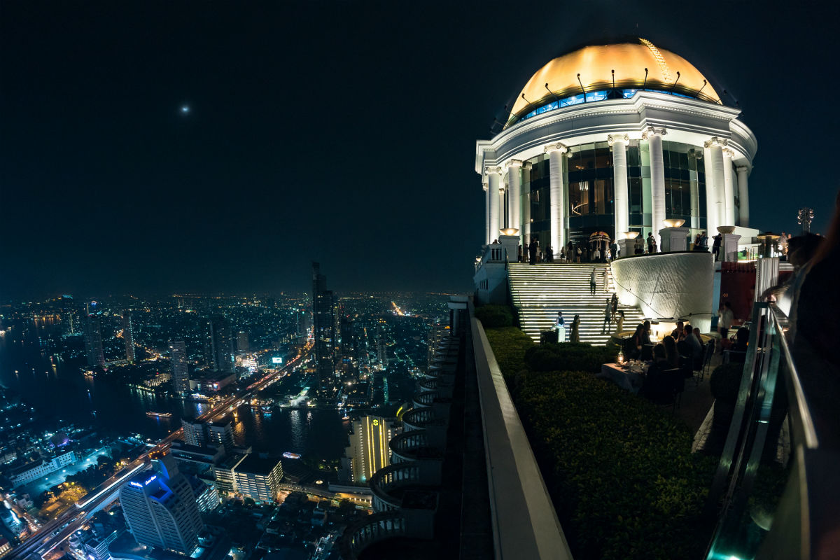 Sirocco restaurant night view