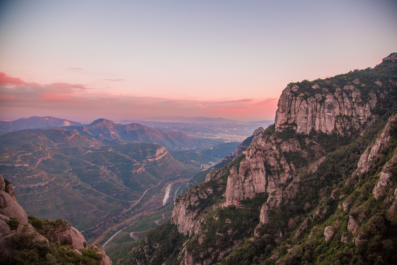 Amazing view from Montserrat mountain