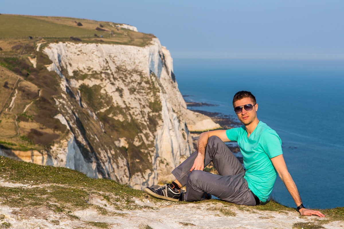 Fantastic landscape view Dover cliffs