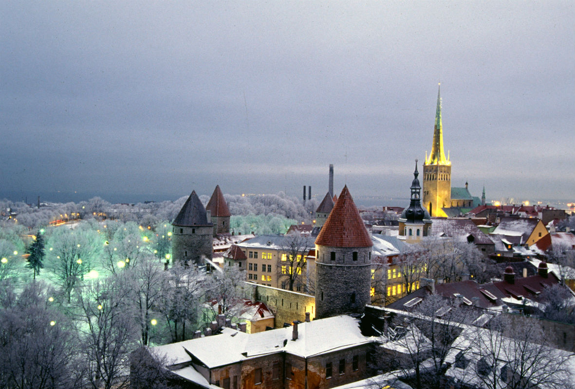 Old Tallinn in winter