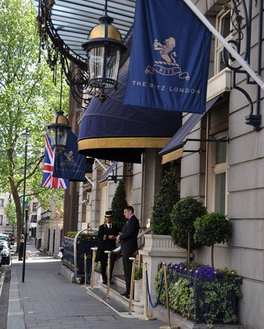 The Ritz London main entrance