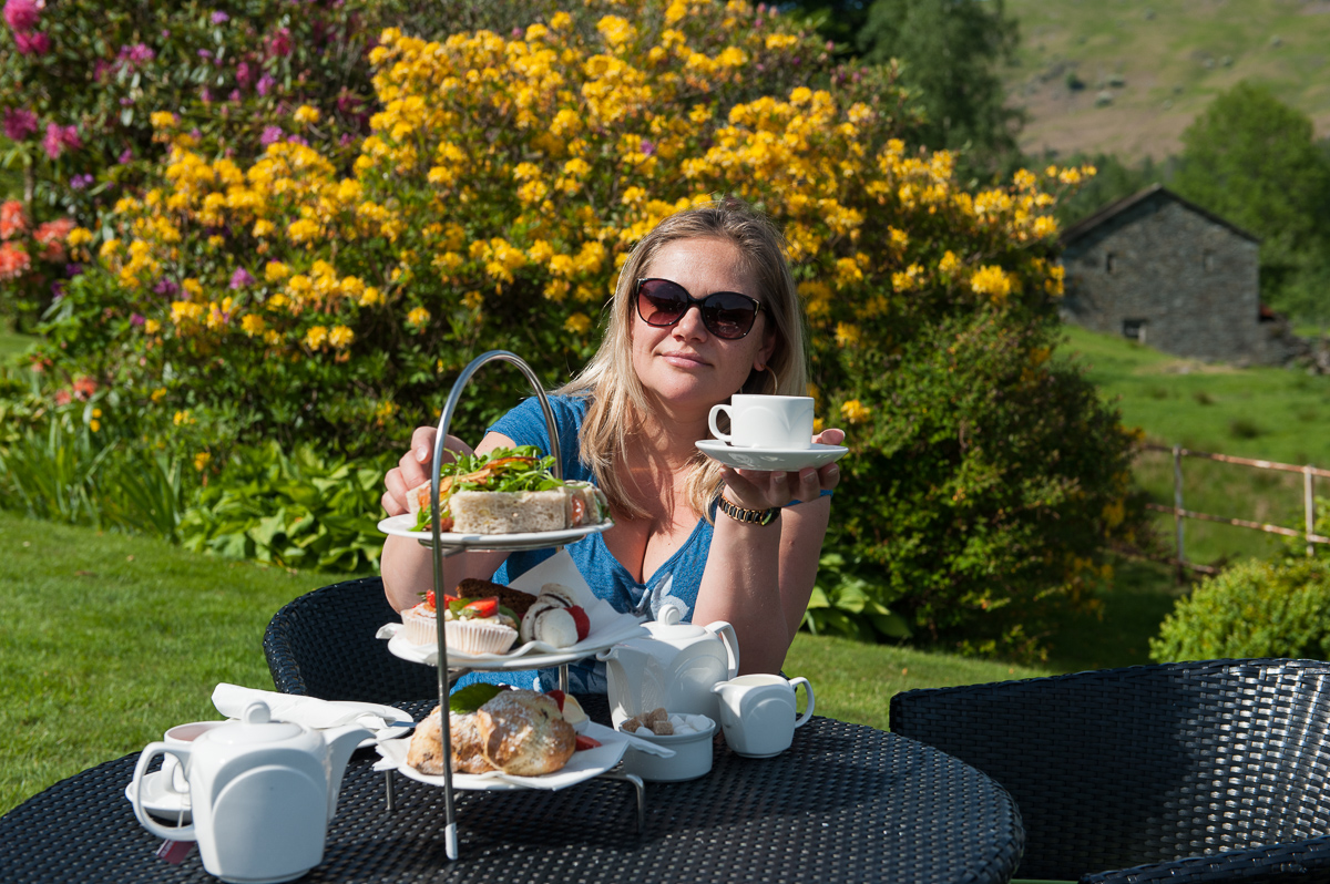 Afternoon tea in Eltermere Inn