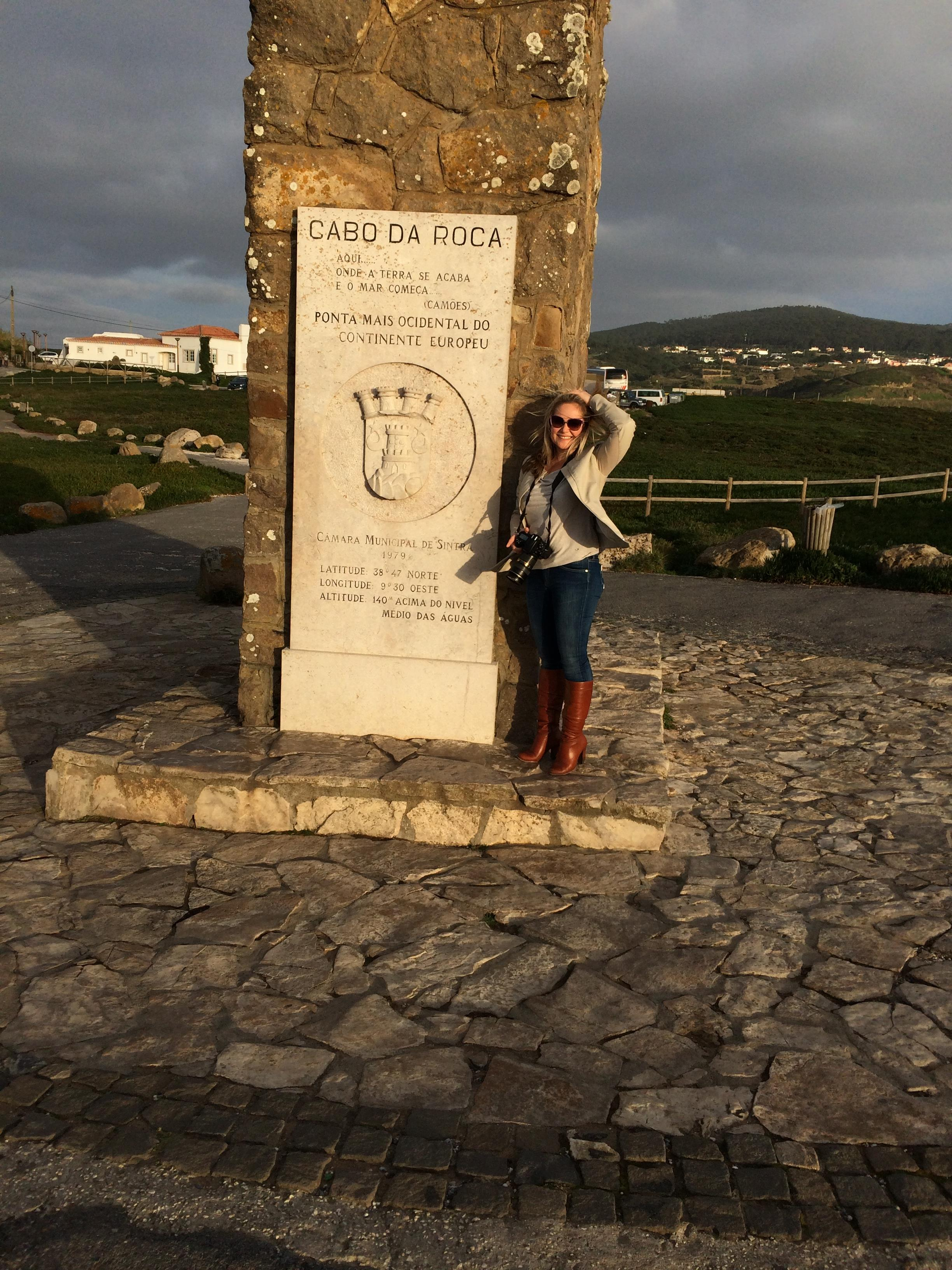 sign tile Cabo da Roca Lisbon