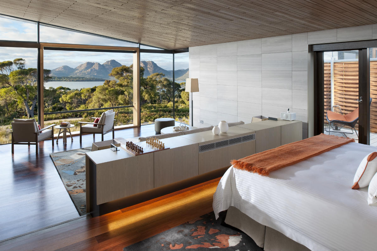 Luxury hotel Tasmania suite