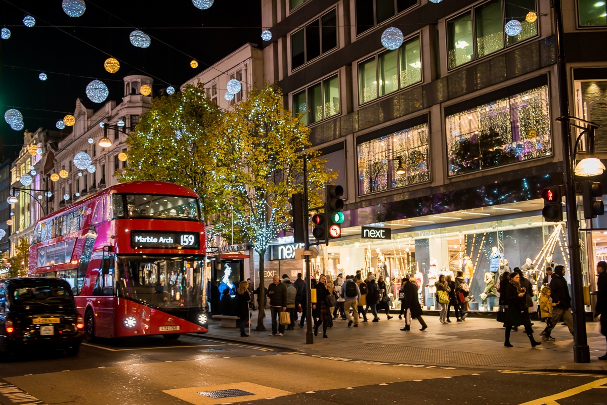Oxford Street by night