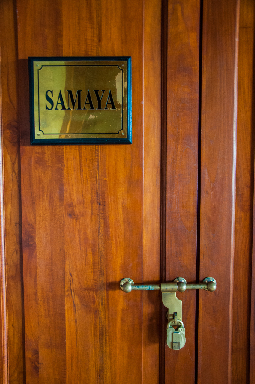 Wooden door, Samaya villa
