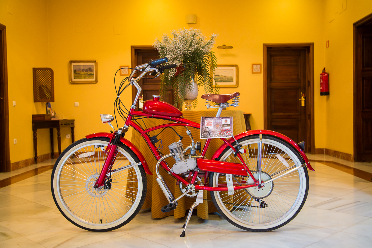 Bicycle as part of hotels interior