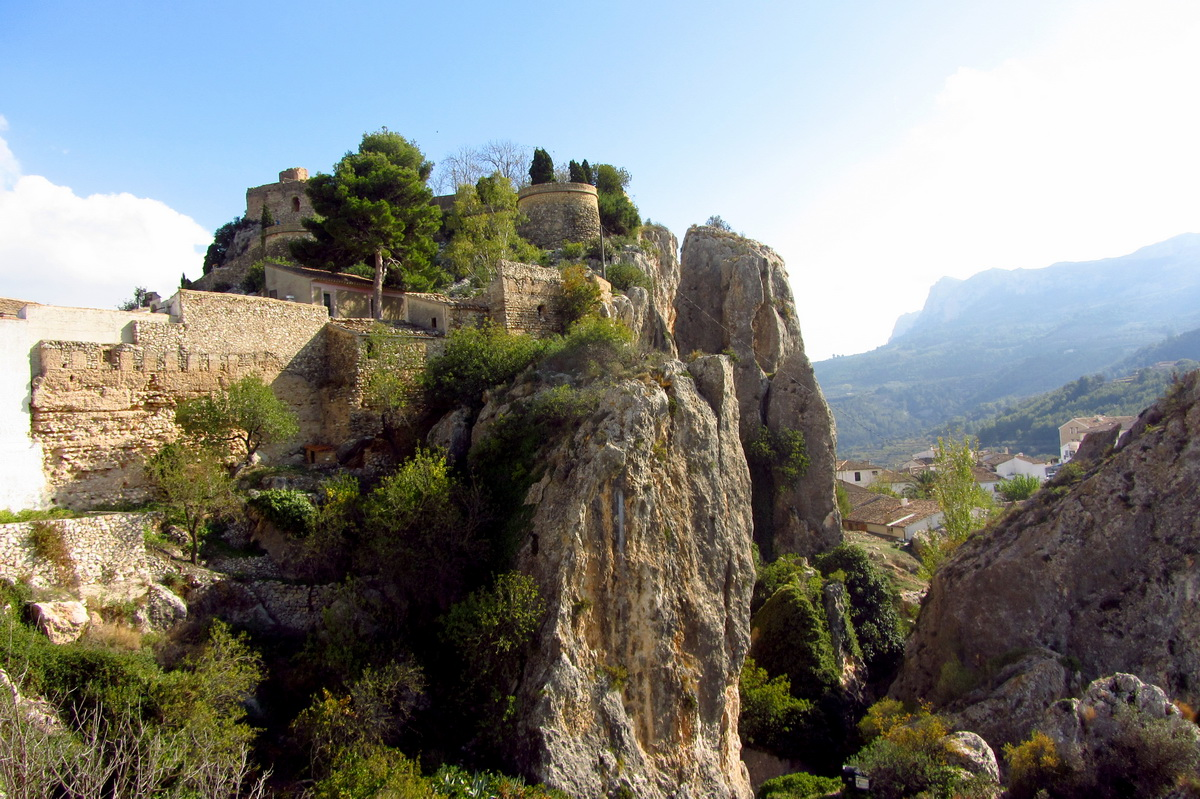 amazing view at El Castell de Guadalest near Benidorm