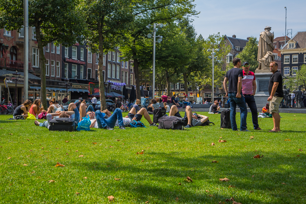 Green parks in Amsterdam