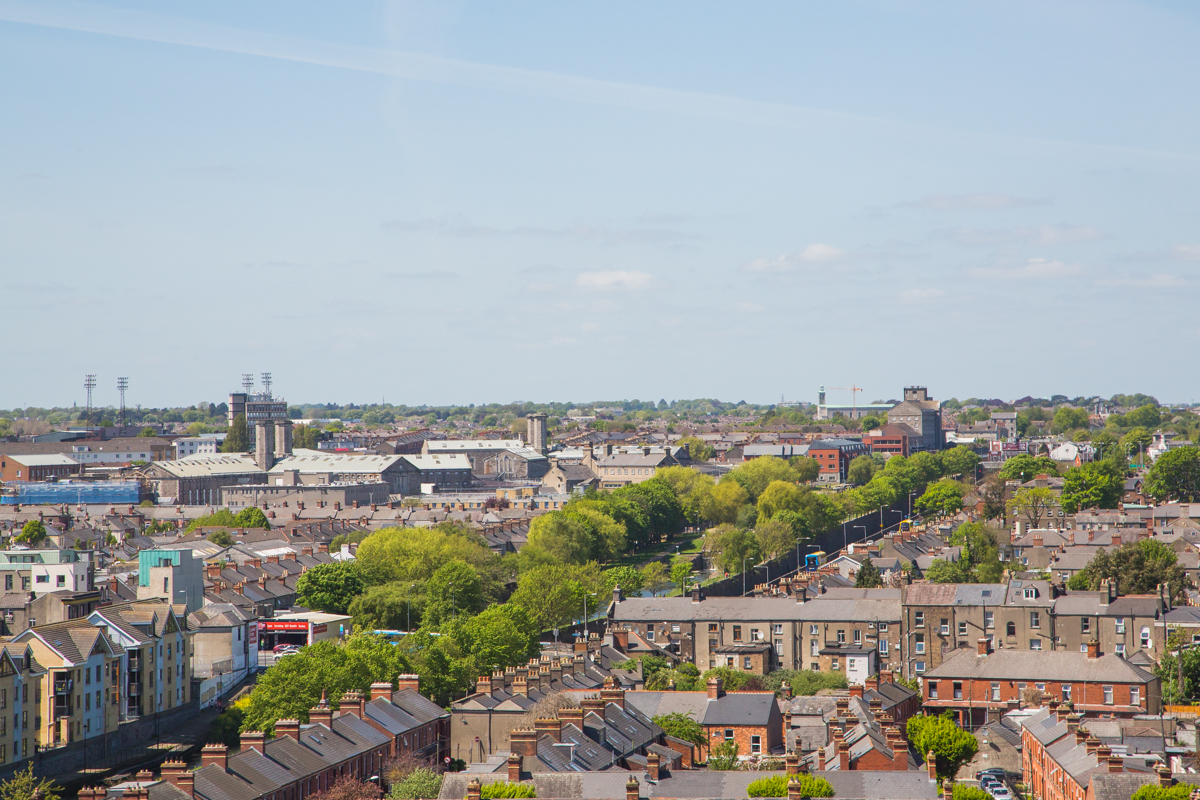View on industrial Dublin