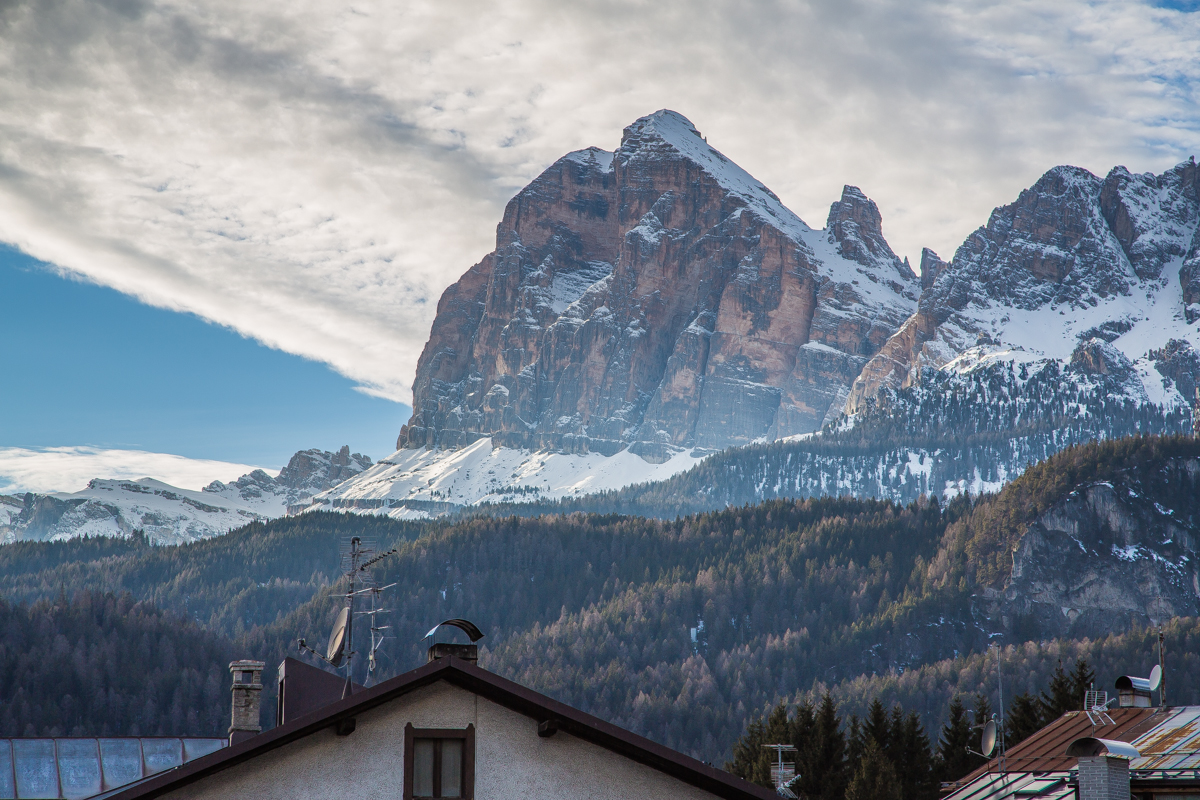 Breathtaking Cortina mountain view