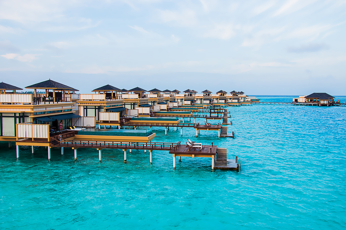 Angsana Velavaru water villas view