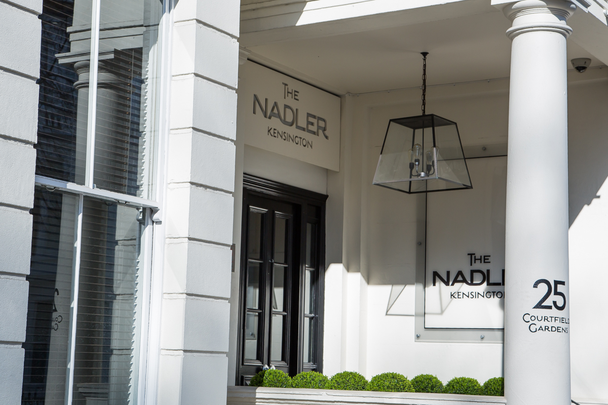 Nadler Kensington entrance west london stucco