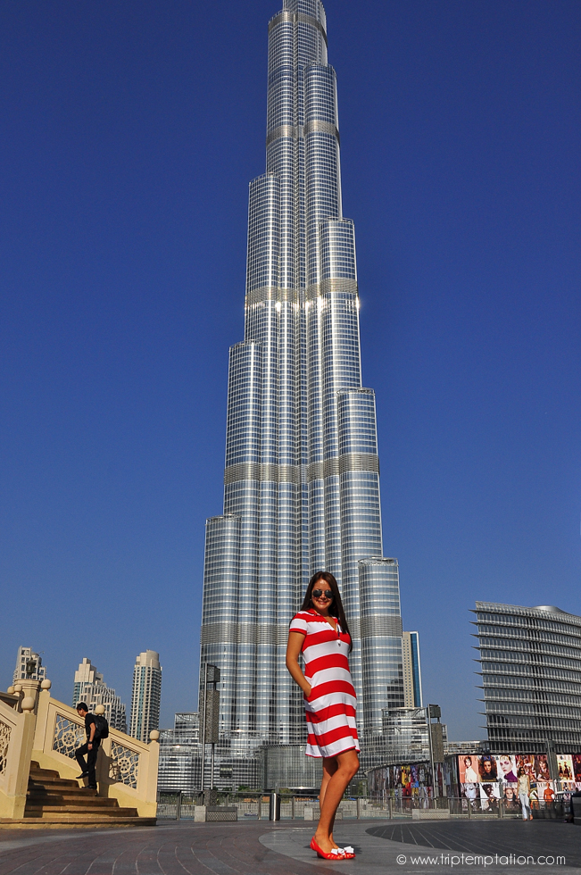 Girls in Dubai near Burj Khalifa