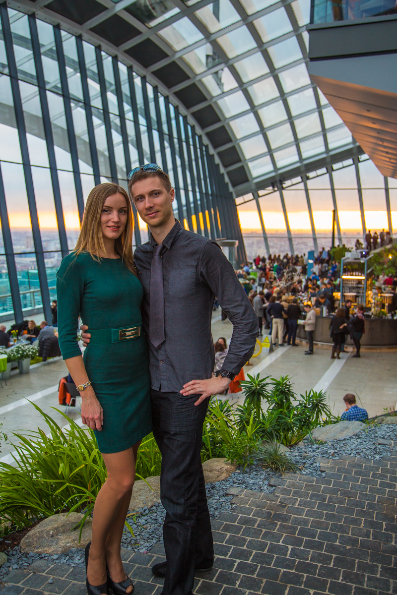 Romantic escape in London - the Sky Garden