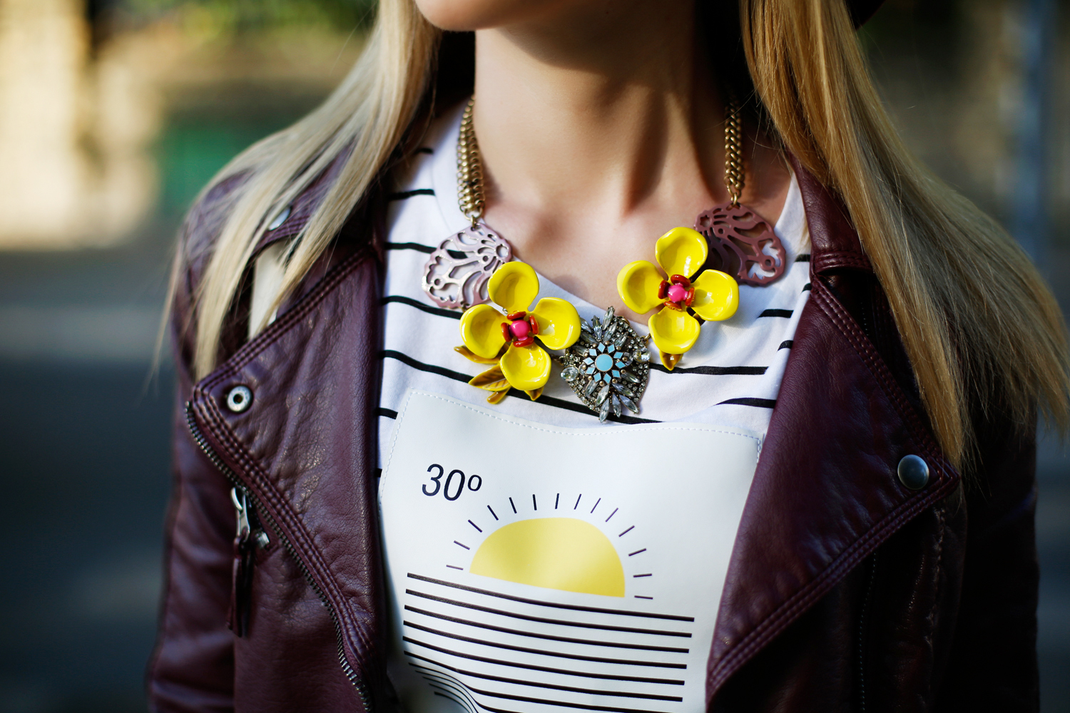 Amazing lush colors of Happiness Boutique necklace