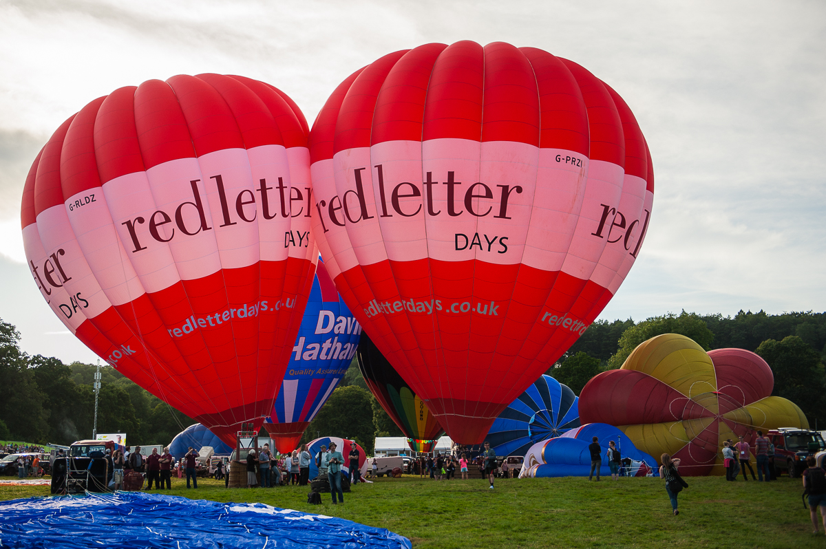 Amazing hot air festival in United Kingdom