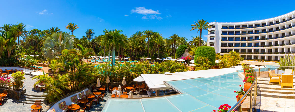 Palm Beach hotel panorama view