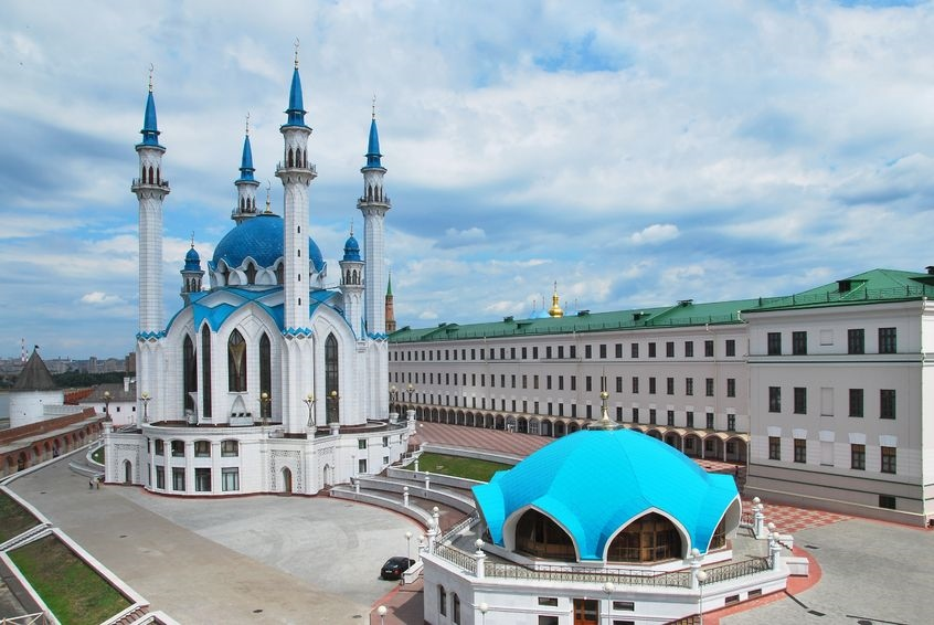 visit Kazan with its beautiful buildings
