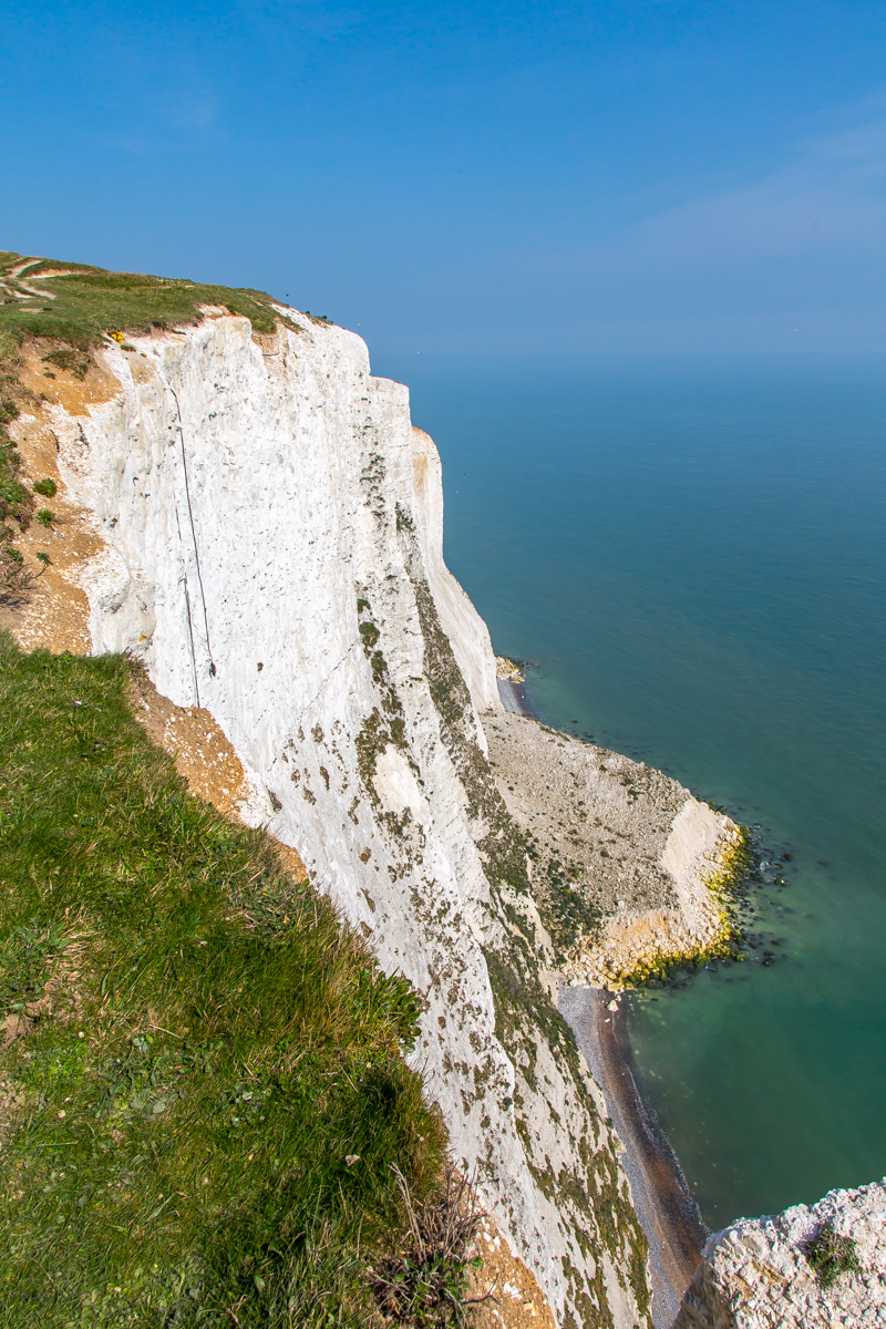 Edge of White Cliffs in Dover