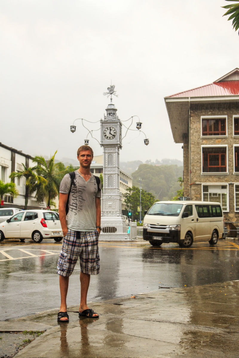 Famous little Big Ben in Seychelles