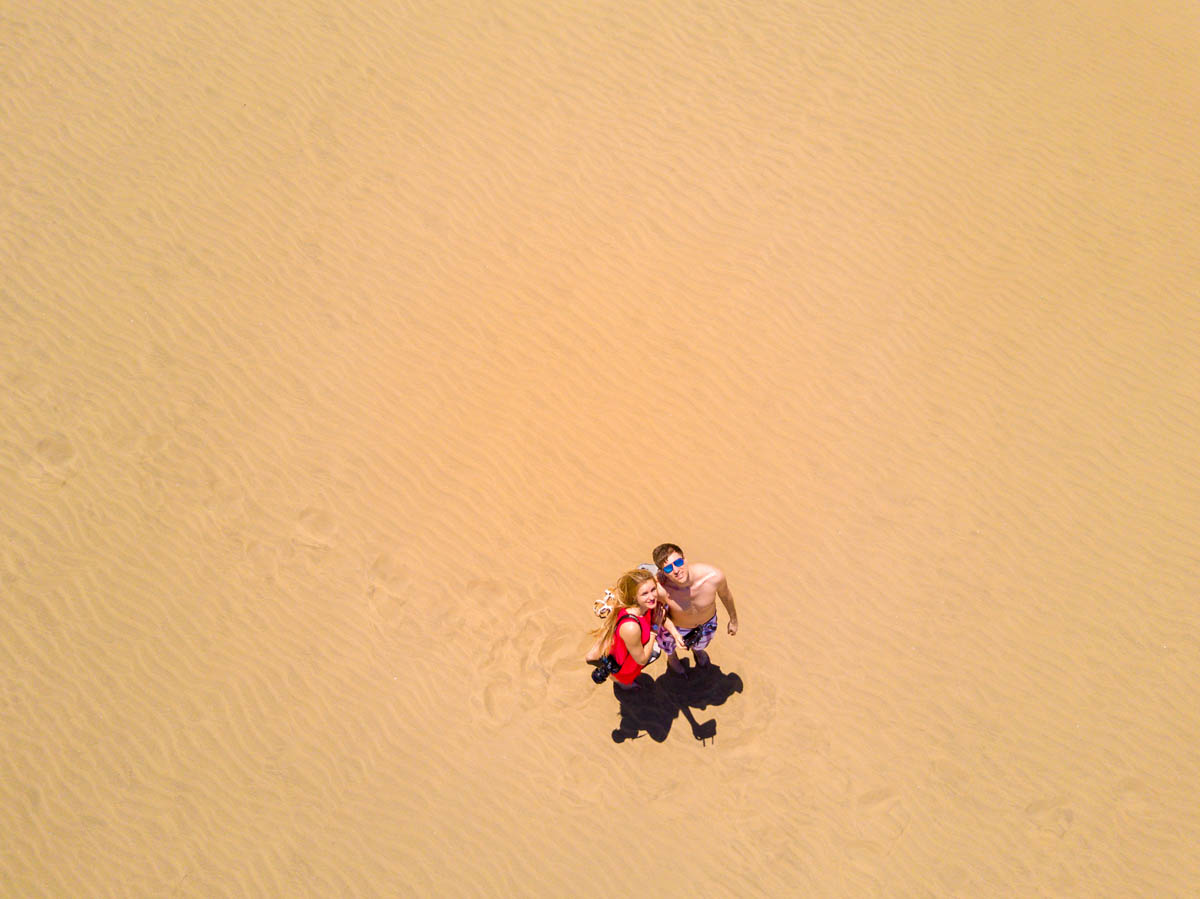 Couple at Maspalomas Dunes