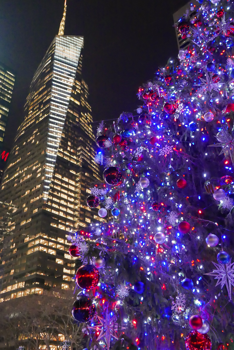 Christmas tree in the Bryant Park