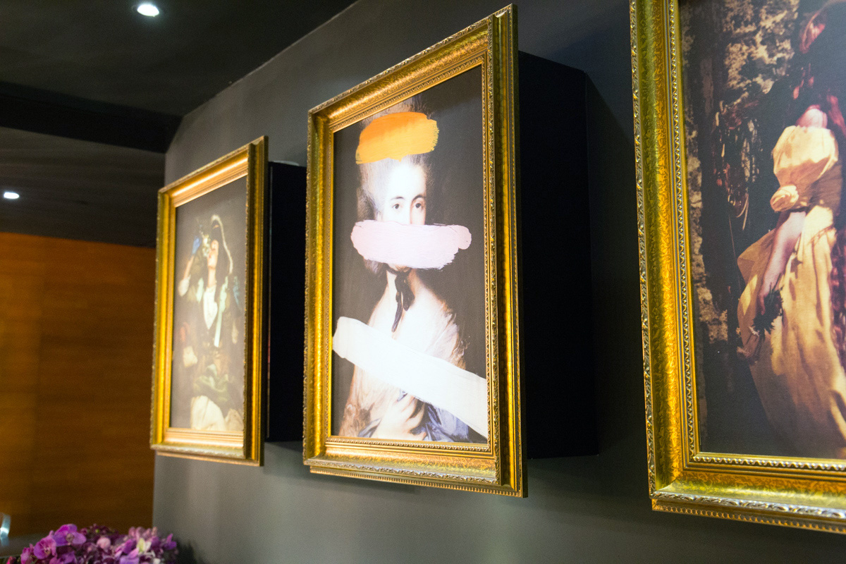 Paintings in hotels hall