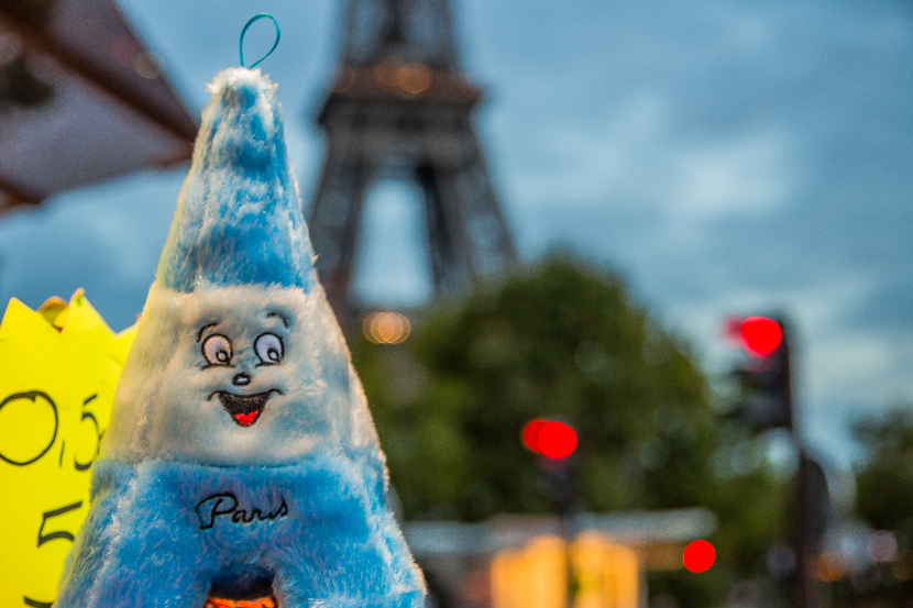 Fluffy Eiffel tower