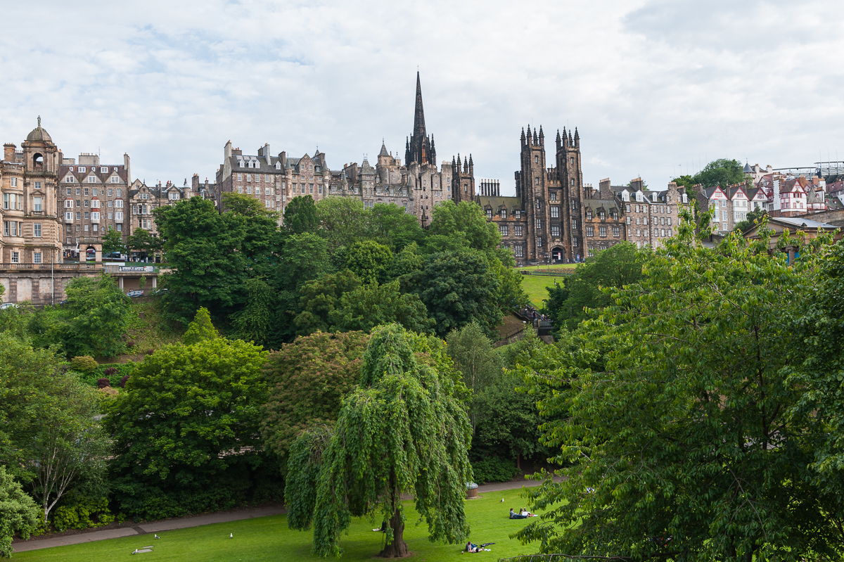 Central garden in Edinburgh