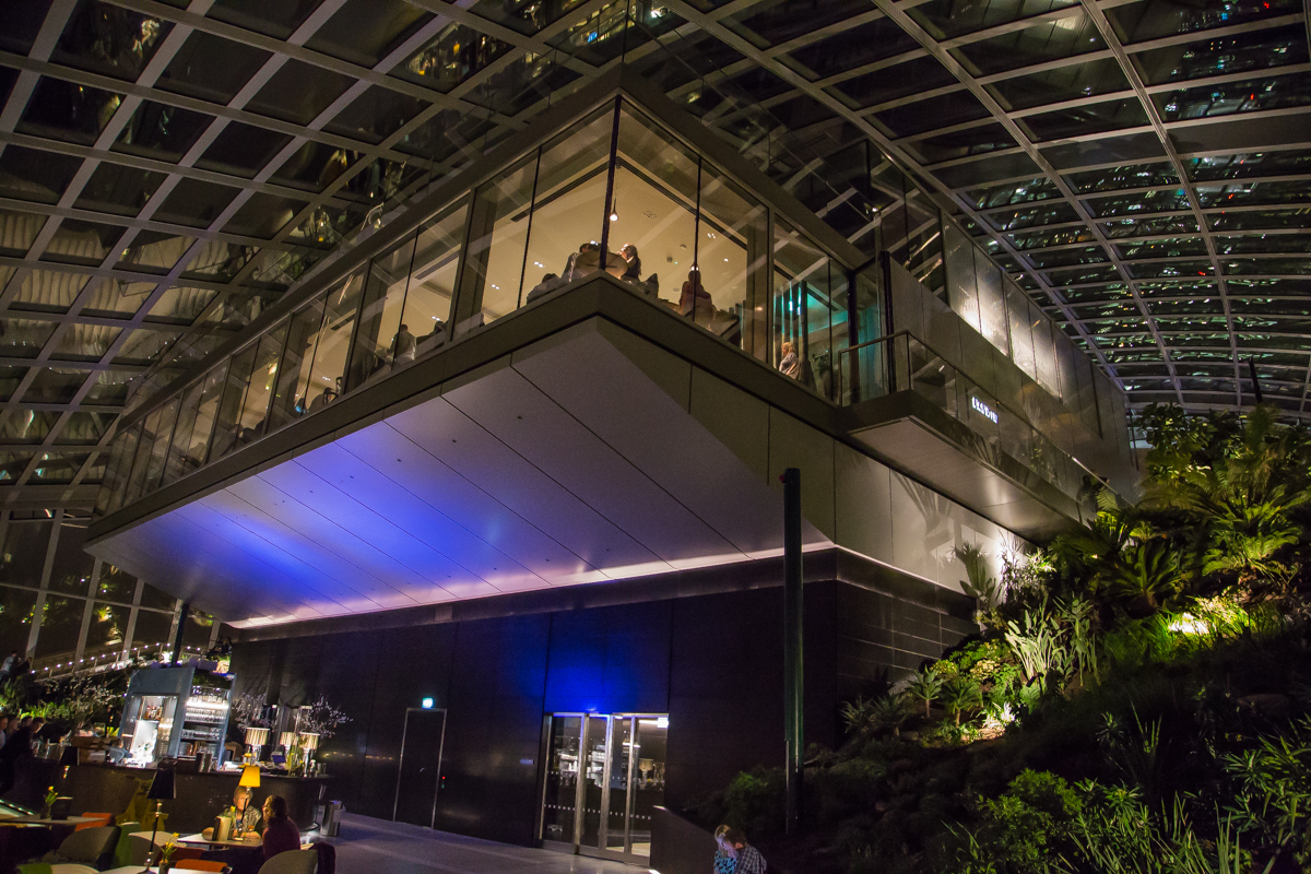 Night view of Darwin restaurant Sky Garden