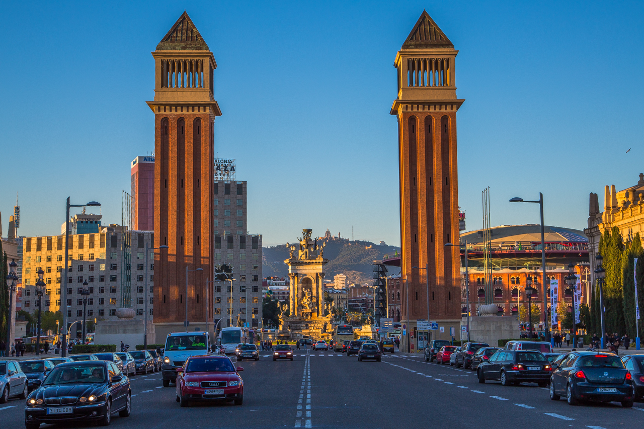 Venetian Towers in Barcelona