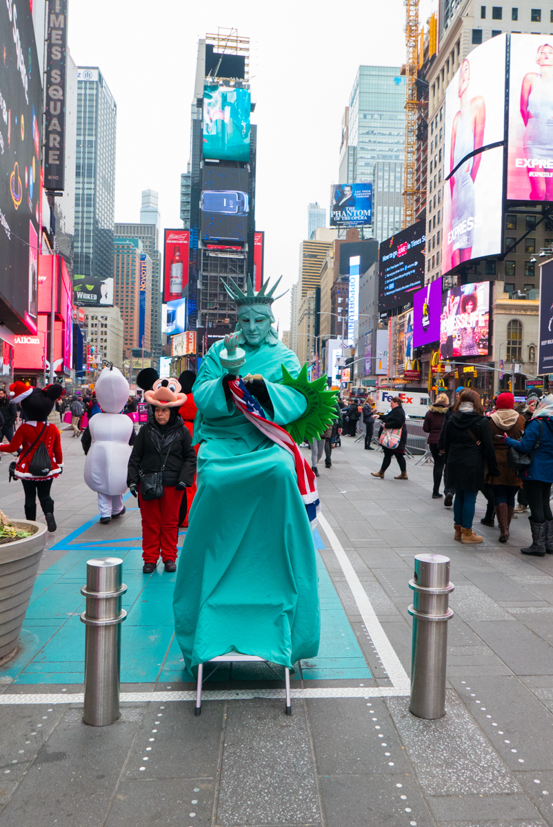 Statue of Liberty on Times Square