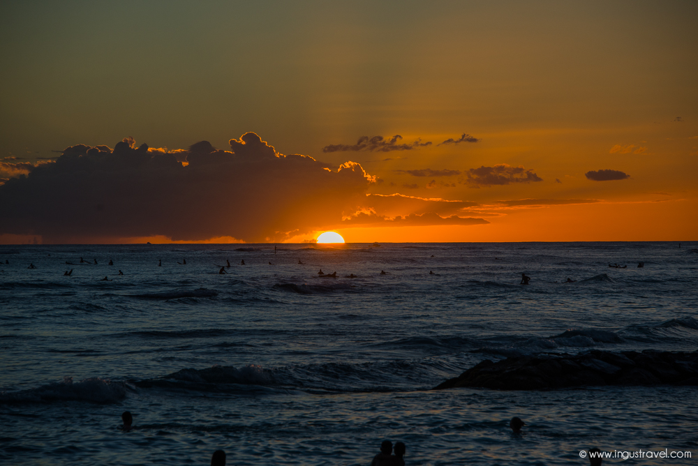 Sunset hawaii style