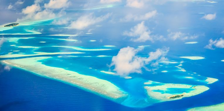 View on Maldive islands
