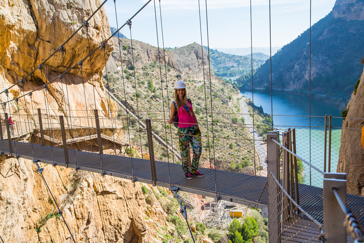 Breathtaking views from Caminito del Rey bridge