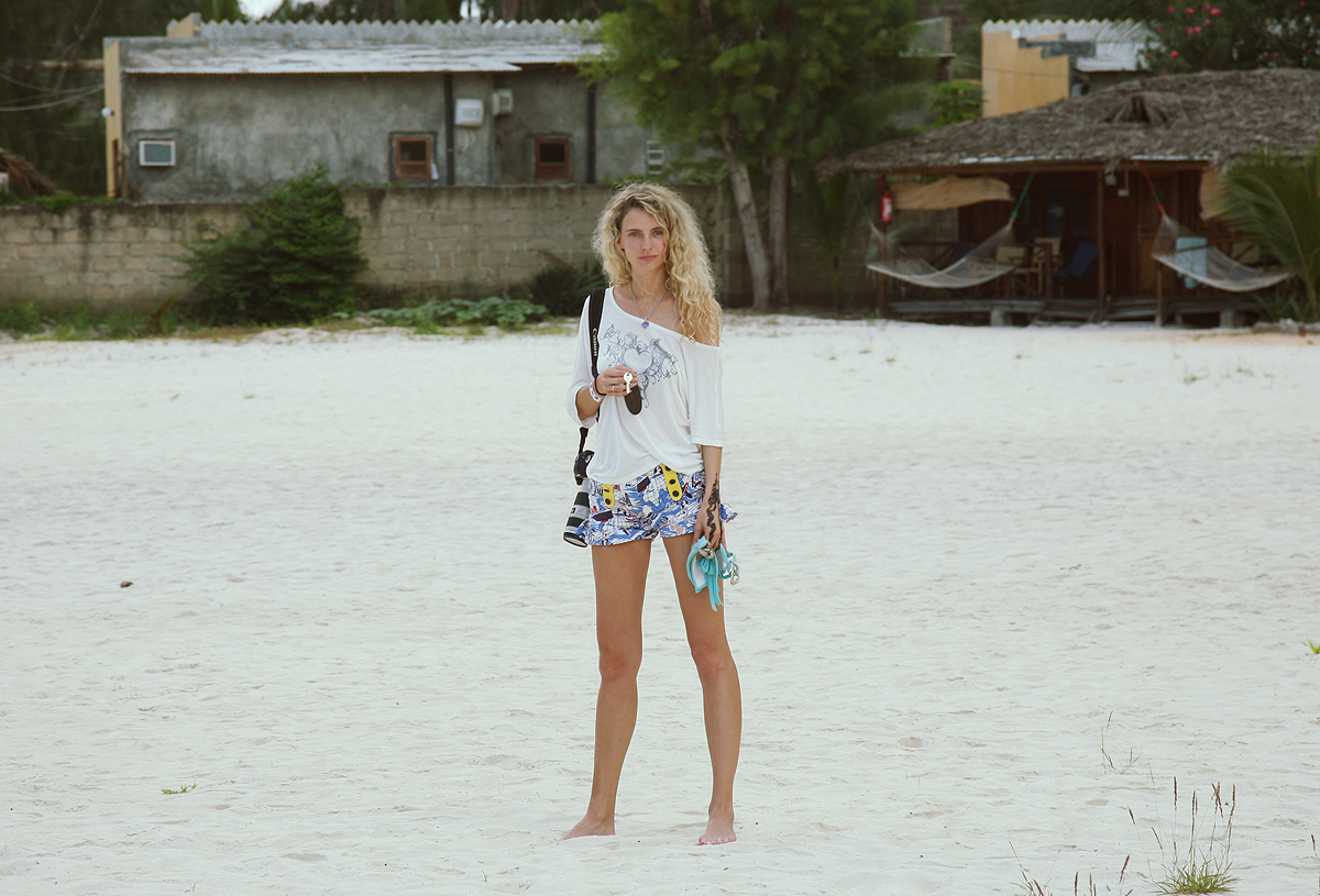 Visiting Zanzibar beach girl