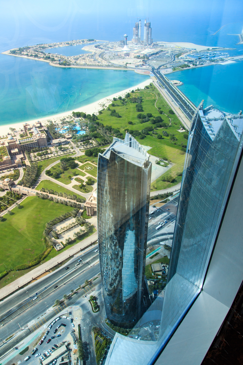 Breathtaking view from Etihad towers